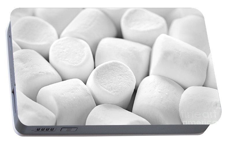 Marshmallows Portable Battery Charger featuring the photograph Marshmallows by Elena Elisseeva