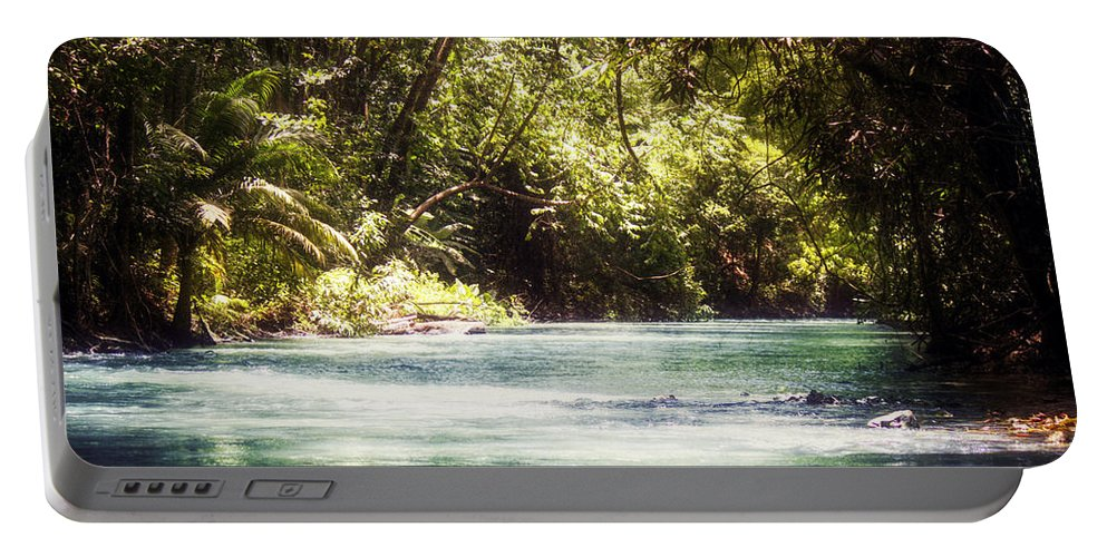 Rafting Portable Battery Charger featuring the photograph Martha Brae River by Melanie Lankford Photography