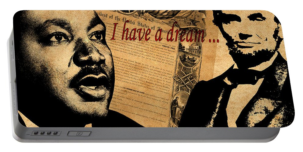 Martin Luther King Junior Portable Battery Charger featuring the photograph Martin Luther King Jr 2 by Andrew Fare