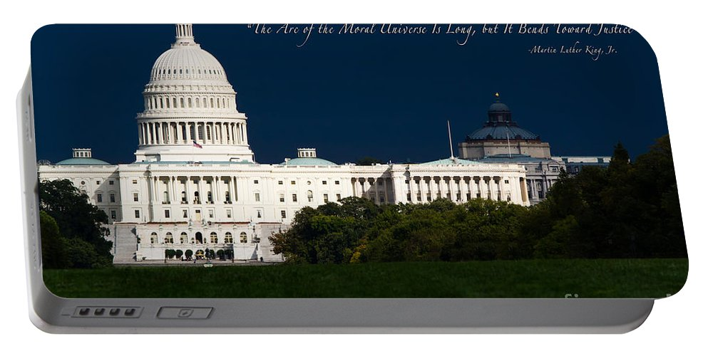 Washington Dc Portable Battery Charger featuring the photograph Martin Luther King Jr. by Doug Sturgess