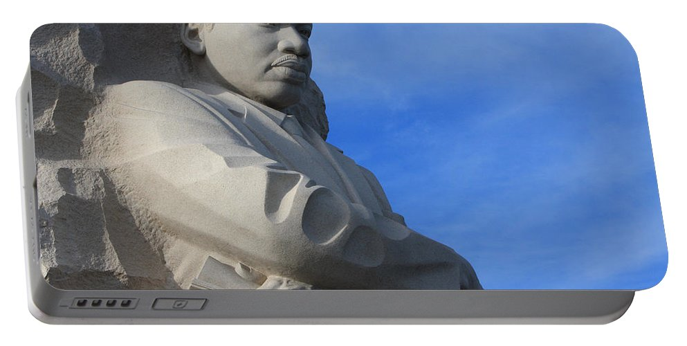 Martin Portable Battery Charger featuring the photograph Martin Luther King Jr Monument Detail by John Cardamone