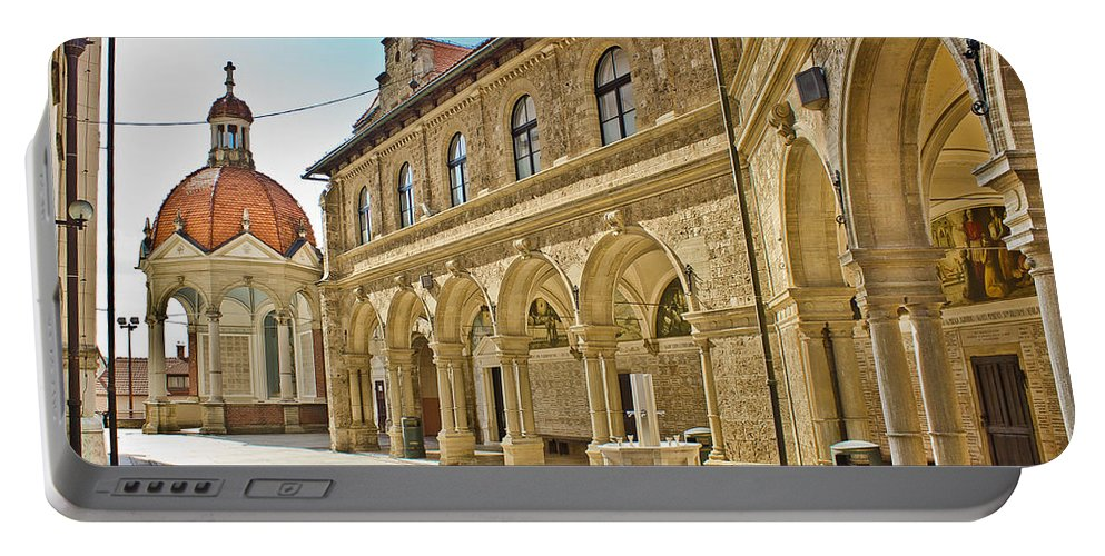 Croatia Portable Battery Charger featuring the photograph Mary Of Bistrica Shrine Architecture by Brch Photography