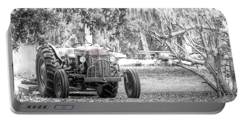 Massey Ferguson Portable Battery Charger featuring the photograph Massey Ferguson Tractor by Scott Hansen