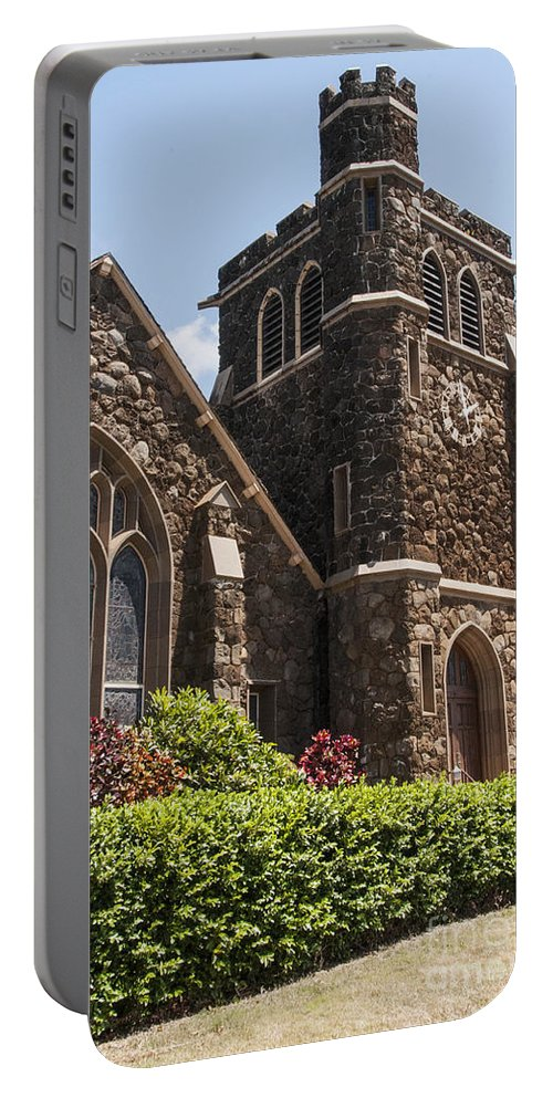 Makawao Union Church East Maui Hawaii Churches Place Places Of Worship Build Buildings Structure Structures Architecture Portable Battery Charger featuring the photograph Maui Worship Place by Bob Phillips