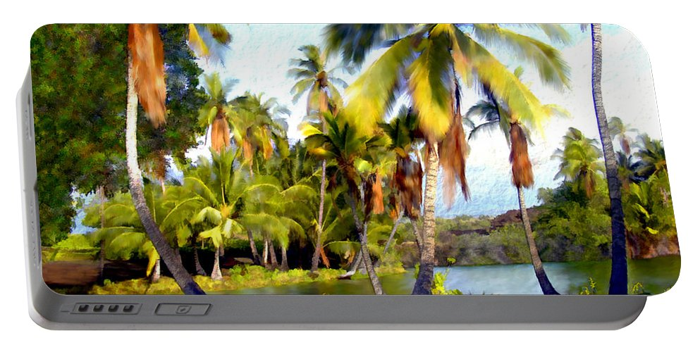 Hawaii Portable Battery Charger featuring the photograph Mauna Lani Fish Ponds by Kurt Van Wagner