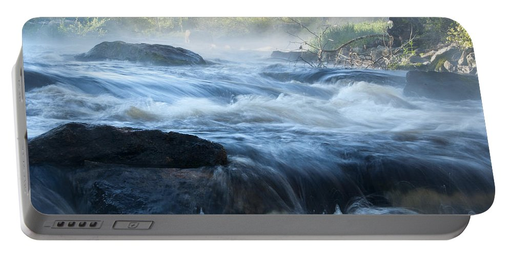 Pawcatuck Portable Battery Charger featuring the photograph May Morning On The Pawcatuck by Steven Natanson