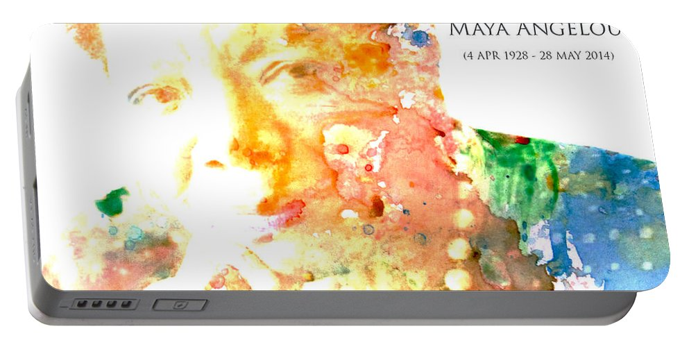 Maya Angelou Portable Battery Charger featuring the digital art Maya Angelou 1 by Brian Reaves