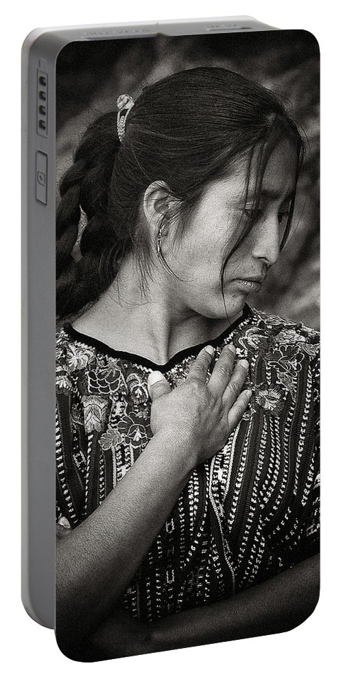 Mayan Portable Battery Charger featuring the photograph Mayan Beauty by Tom Bell