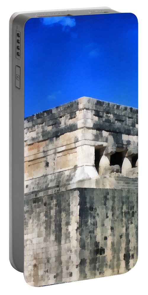 America Portable Battery Charger featuring the digital art Mayan Ruins by Roy Pedersen