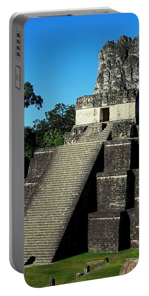 Guatemala Portable Battery Charger featuring the photograph Mayan Ruins - Tikal Guatemala by Juergen Weiss