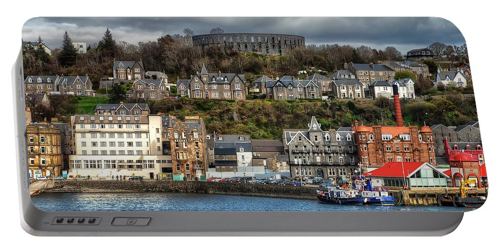 Mccaig's Tower At Oban Portable Battery Charger featuring the photograph Mccaig's Tower At Oban by Lois Bryan