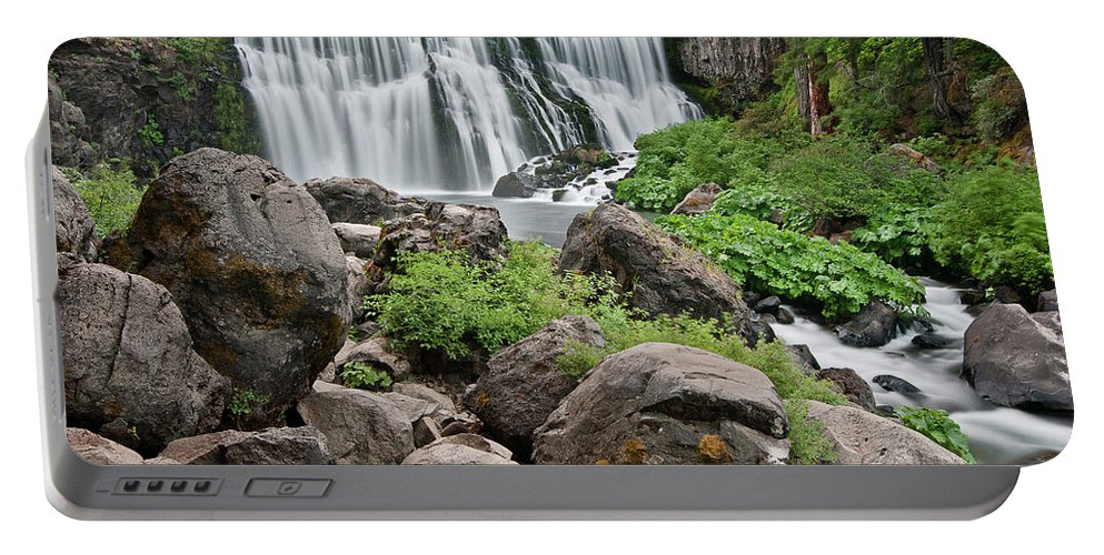 Cascades Portable Battery Charger featuring the photograph Mccloud Falls by Greg Nyquist