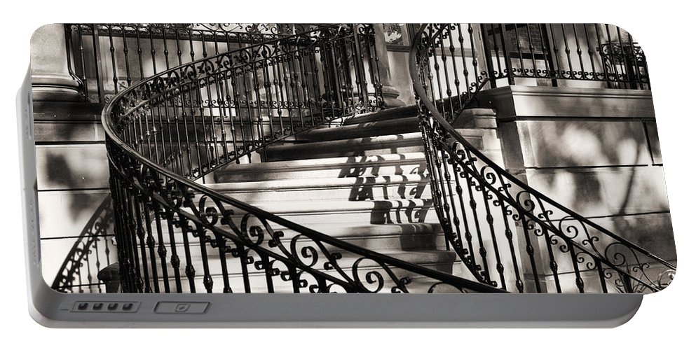 Mccormick Mansion Staircase Portable Battery Charger featuring the photograph Mccormick Mansion Staircase by Ely Arsha
