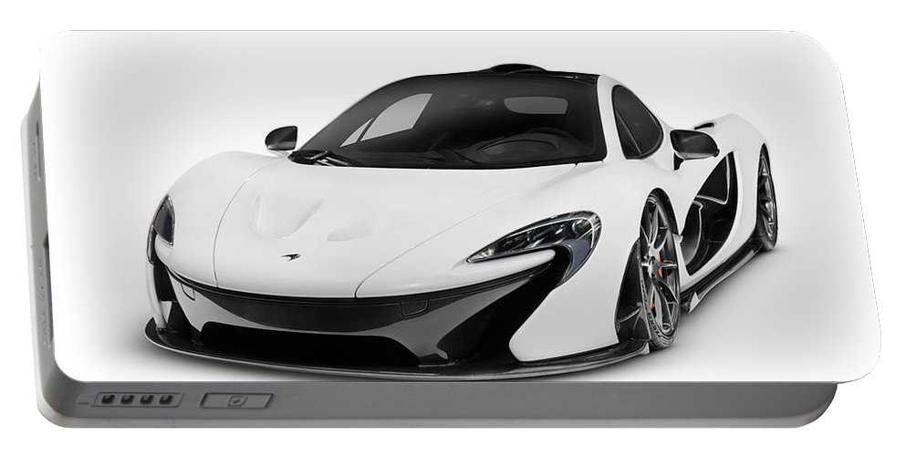 Supercar Portable Battery Charger featuring the photograph Mclaren P1 Plug-in Hybrid Supercar by Oleksiy Maksymenko