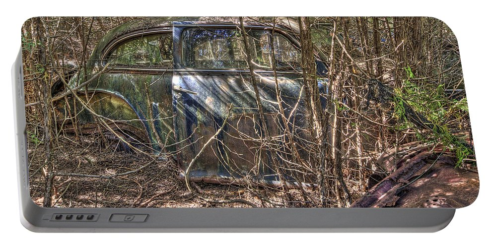 Mclean Auto Wrecker Portable Battery Charger featuring the photograph Mcleans Auto Wrecker -13 by Paul Cannon