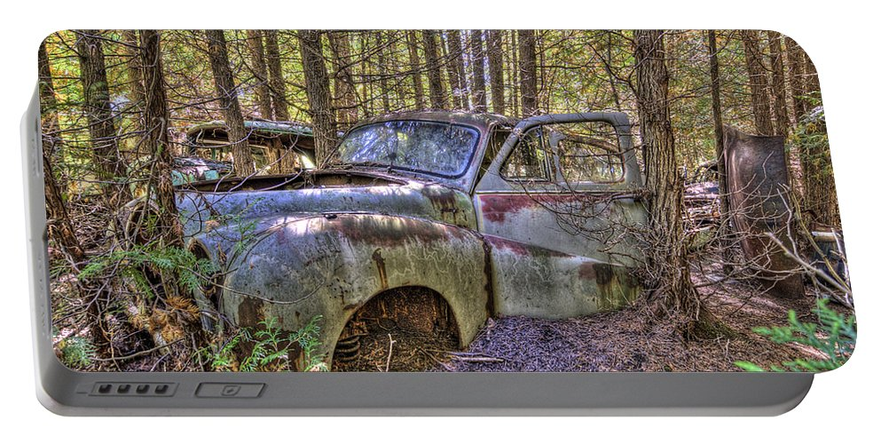 Mclean Auto Wrecker Portable Battery Charger featuring the photograph Mcleans Auto Wrecker - 3 by Paul Cannon