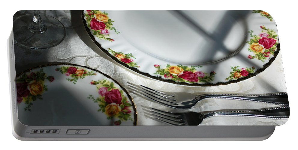 Dining Portable Battery Charger featuring the photograph Anticipation by Flamingo Graphix John Ellis