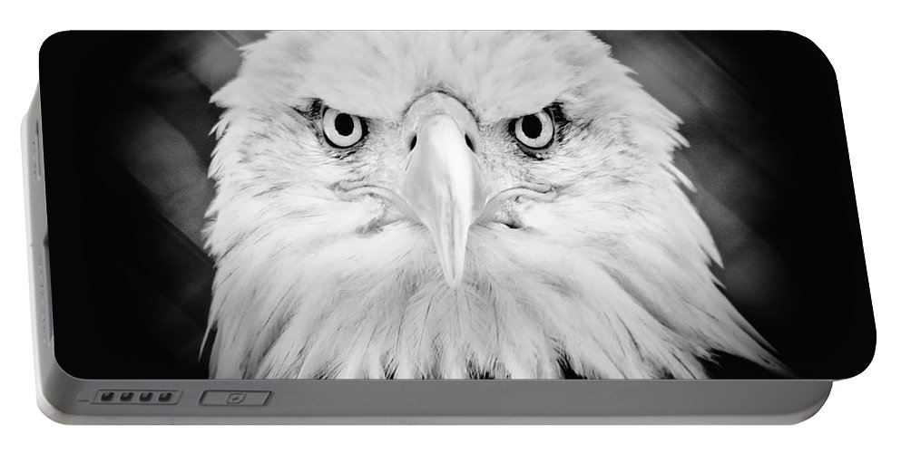 Eagle Portable Battery Charger featuring the photograph Mean Mug by Athena Mckinzie