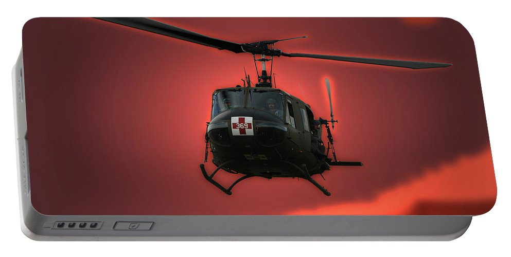 Dust Off Portable Battery Charger featuring the photograph Medevac The Sound Of Hope by Thomas Woolworth