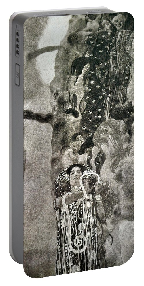 Gustav Klimt Portable Battery Charger featuring the painting Medicine by Gustav Klimt
