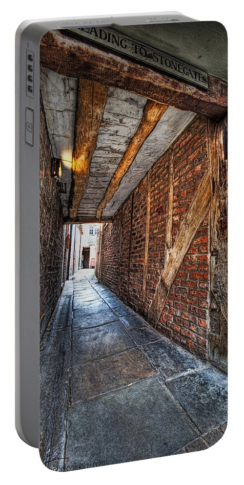 Medieval Portable Battery Charger featuring the photograph Medieval Doorway by Beverly Cash