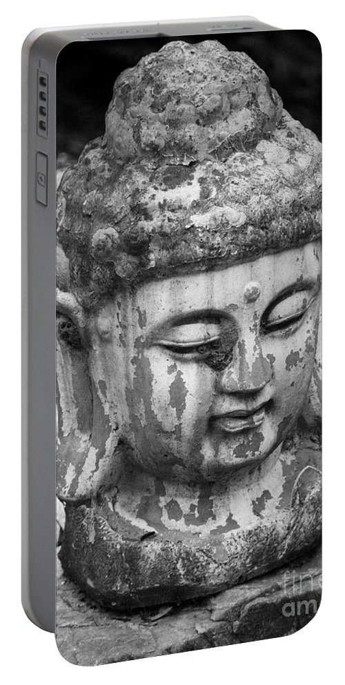 Meditation Portable Battery Charger featuring the photograph Meditation Bw by Teresa Mucha