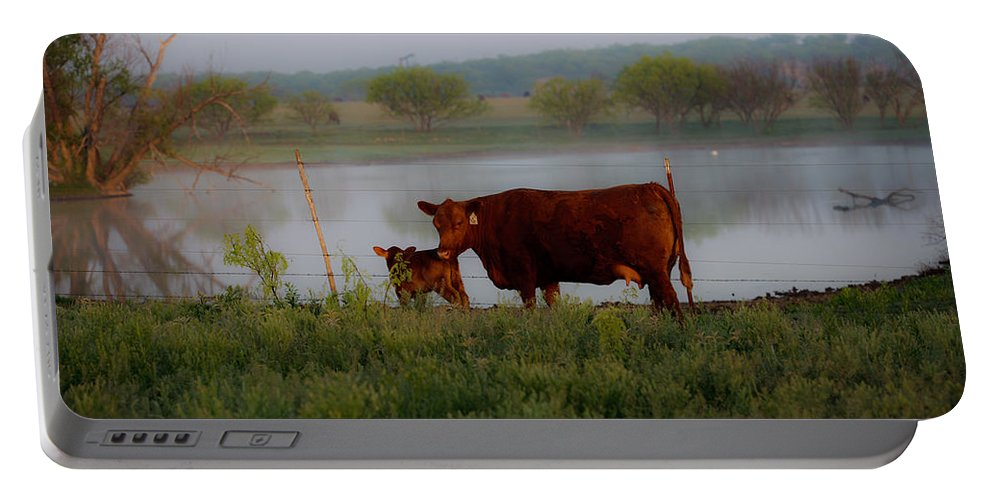 Ranch Portable Battery Charger featuring the photograph Meet N Greet by Kelli Brown