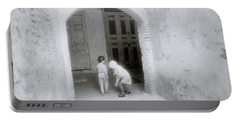 Mysterious Portable Battery Charger featuring the photograph Moroccan Dreams by Shaun Higson