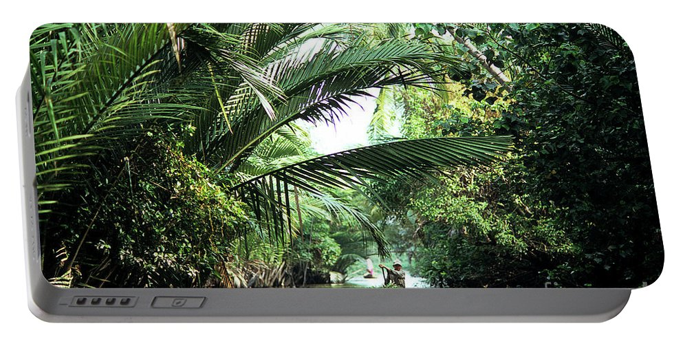 Vietnam Portable Battery Charger featuring the photograph Mekong Delta Backwater 01 by Rick Piper Photography
