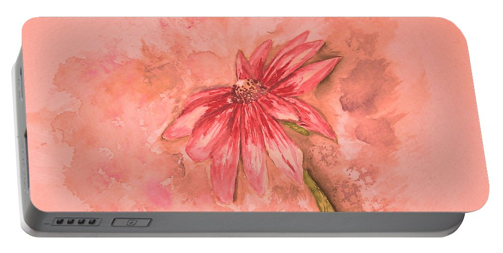 Watercolor Portable Battery Charger featuring the painting Melancholoy by Crystal Hubbard