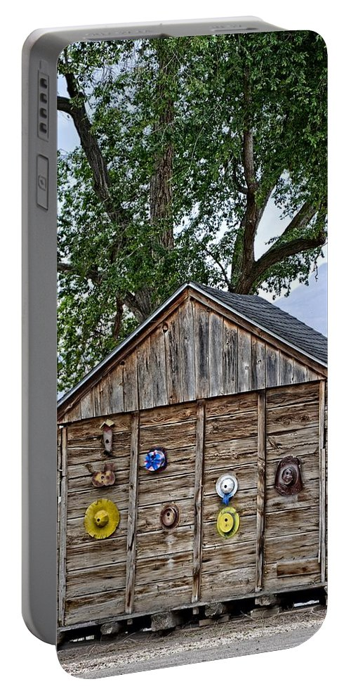 Melba Portable Battery Charger featuring the photograph Melba Idaho -hard Hat Display by Image Takers Photography LLC