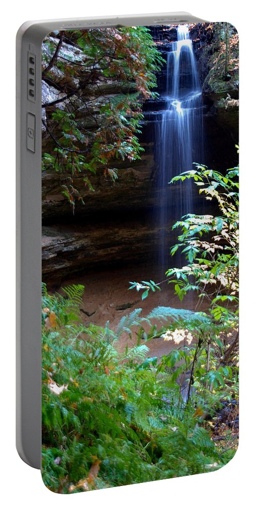 Ptical Playground By Mp Ray Portable Battery Charger featuring the photograph Memorial Falls I by Optical Playground By MP Ray