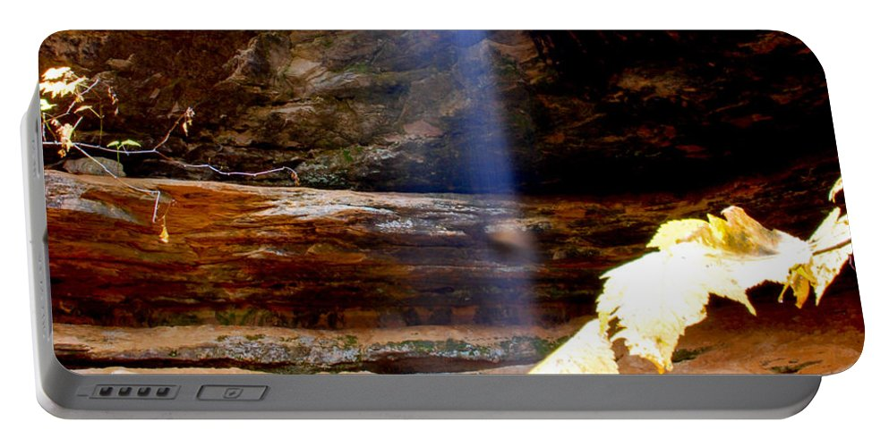 Ptical Playground By Mp Ray Portable Battery Charger featuring the photograph Memorial Falls IIi by Optical Playground By MP Ray