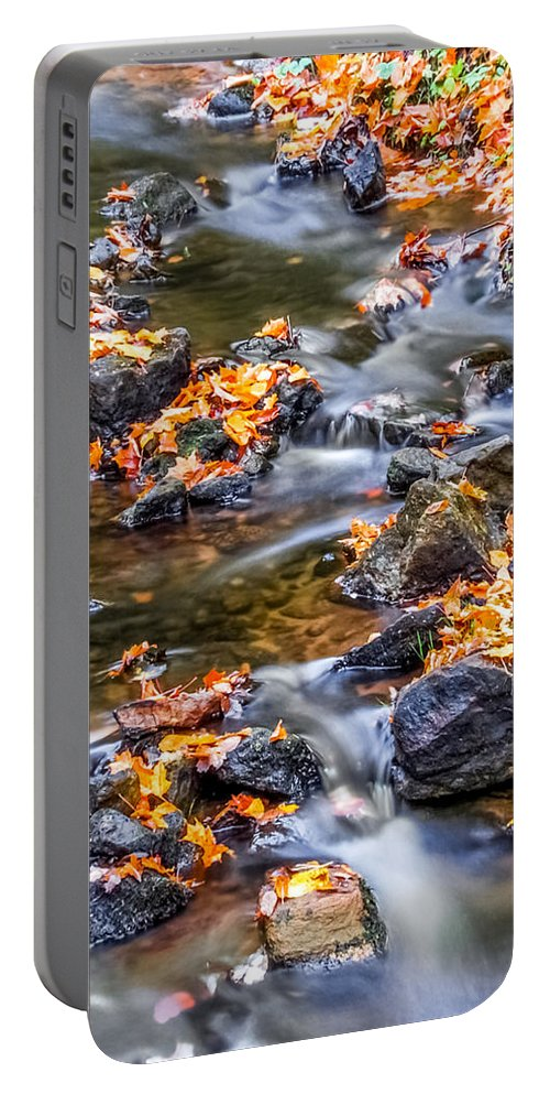 Ptical Playground By Mp Ray Portable Battery Charger featuring the photograph Memorial Falls Iv by Optical Playground By MP Ray
