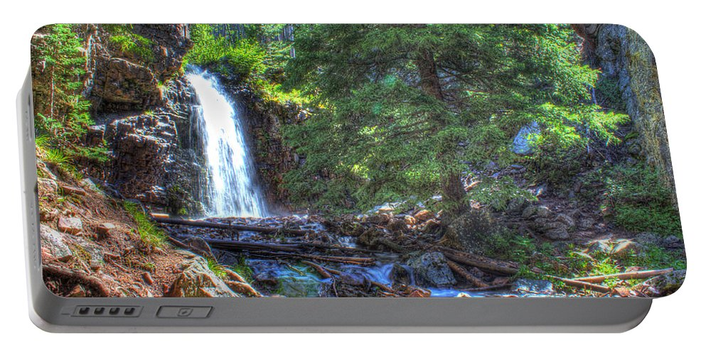 Creek Portable Battery Charger featuring the photograph Memorial Falls Logjam by John Lee