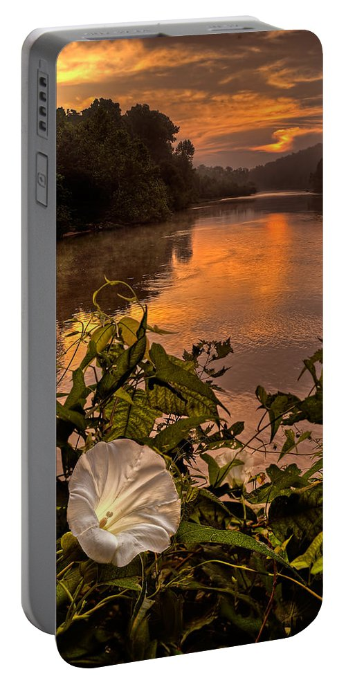 2011 Portable Battery Charger featuring the photograph Meramec River At Chouteau Claim by Robert Charity