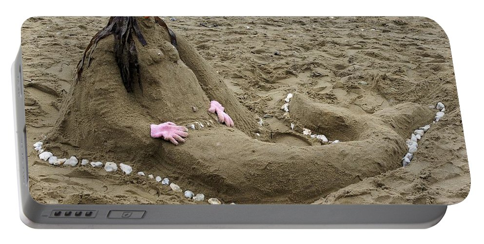 Beach Portable Battery Charger featuring the photograph Mermaid by Ron Harpham