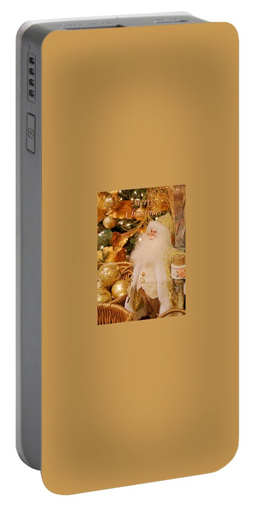 Christmas Portable Battery Charger featuring the photograph Merry Christmas Santa by Deb Buchanan