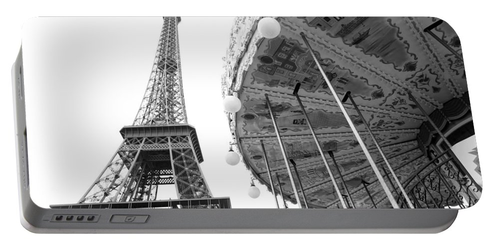 Portable Battery Charger featuring the photograph Merry Eiffel by Jennifer Ann Henry