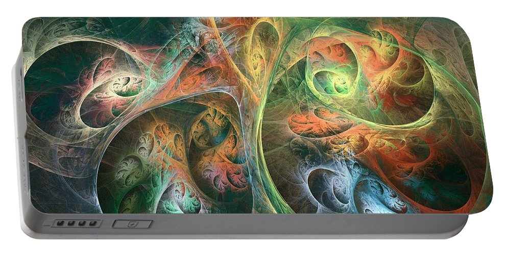 Apophsyis Portable Battery Charger featuring the digital art Meson by Kim Sy Ok