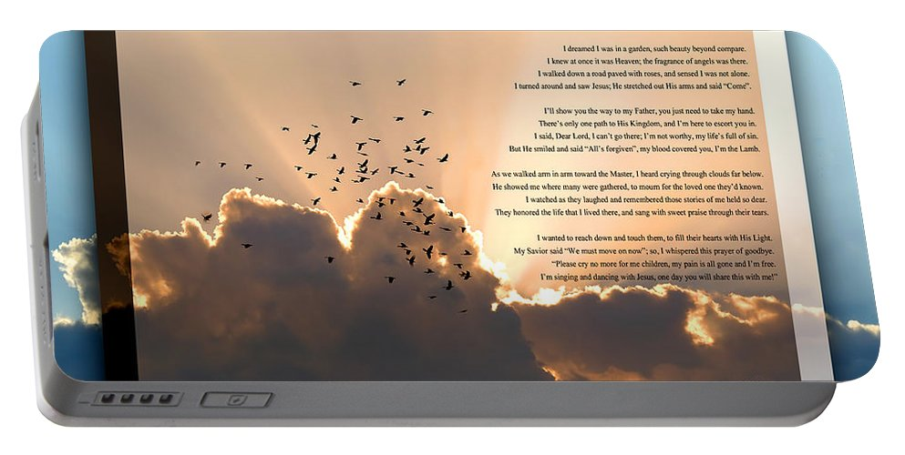 Message From Heaven Portable Battery Charger featuring the photograph Message From Heaven by Carolyn Marshall