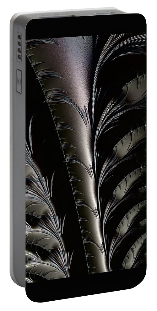 abstract Art fractal Design Abstract girl's Fashion women's Fashion Fashion Portable Battery Charger featuring the photograph Metal Flowers by Bill Owen