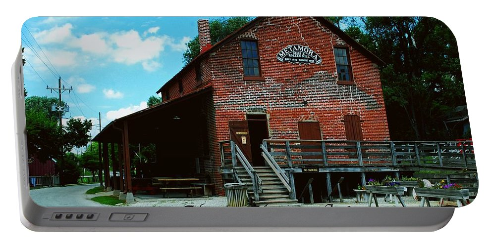 United Portable Battery Charger featuring the photograph Metamora Grist Mill by Gary Wonning
