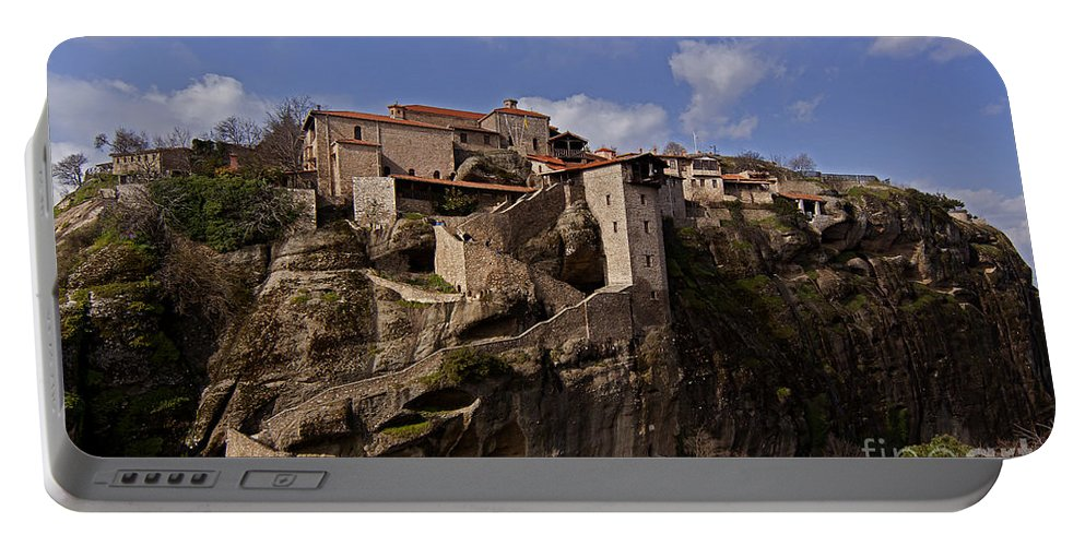 Monastary Portable Battery Charger featuring the photograph Meteora Monastary  #9793 by J L Woody Wooden