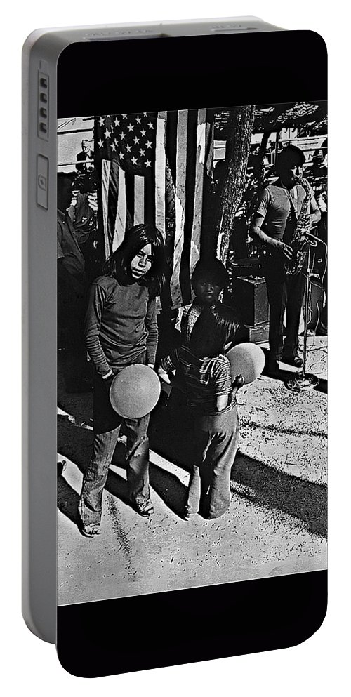 Mexican Day Armory Park Tucson Arizona 1973 Portable Battery Charger featuring the photograph Mexican Day Armory Park Tucson Arizona 1973 by David Lee Guss