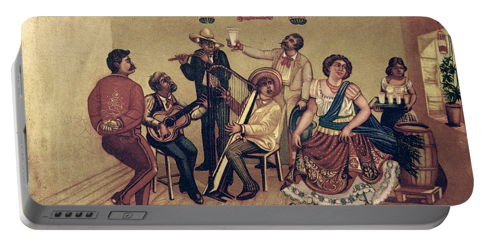 20th Century Portable Battery Charger featuring the photograph Mexico: Hat Dance by Granger