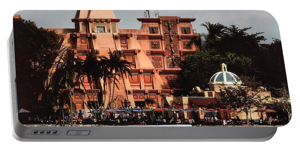 Disneyworld Portable Battery Charger featuring the photograph Mexico by Joyce Baldassarre