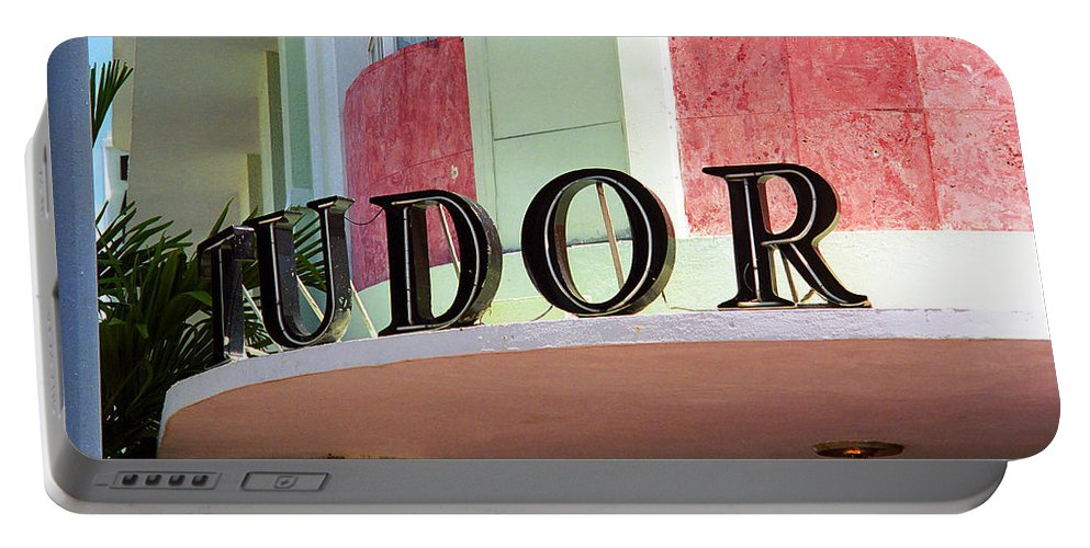 Architecture Portable Battery Charger featuring the photograph Miami Beach - Art Deco 11 by Frank Romeo