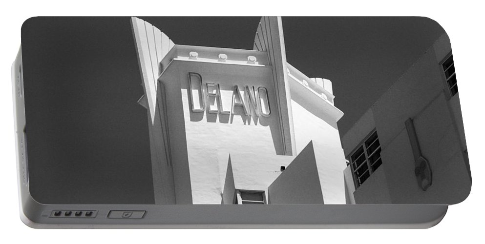 America Portable Battery Charger featuring the photograph Miami Beach - Art Deco 23 by Frank Romeo