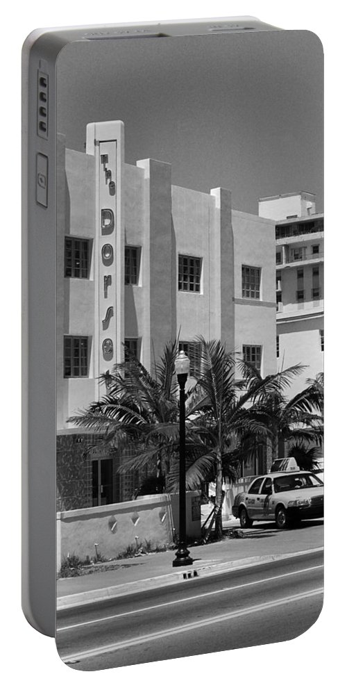 America Portable Battery Charger featuring the photograph Miami Beach - Art Deco 24 by Frank Romeo